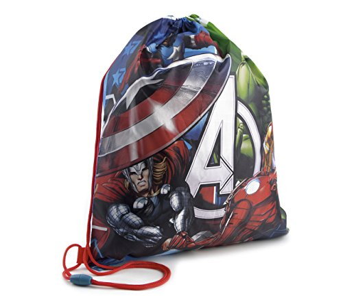 Boys Girls Kids Childrens Marvel Avengers Iron Man Captain America Spiderman Thor Hulk Drawstring School Gym Swim Bag
