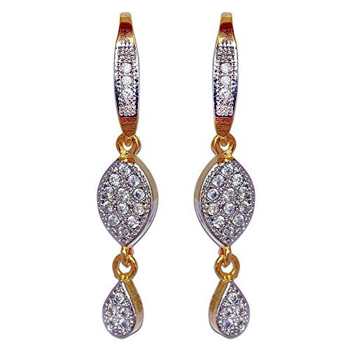Enzy American Diamond Salwar Suit Earring Hoop For Women