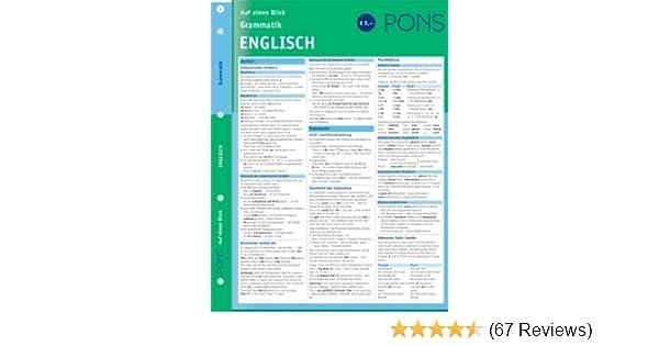 Pons Grammatik Auf Einen Blick Englisch Amazonde Corinna Löckle