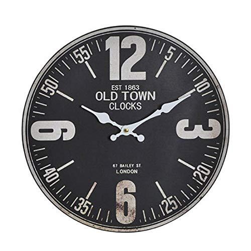 Reloj de Pared Urbano de Estilo Industrial - En Blanco y Negro - Diseño Original - Hogar y más - B