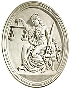 Design Toscano KY4040 Old Bailey Courthouse Lady Justice Wall Sculpture