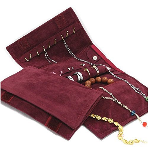 UnionPlus Small Jewelry Case Roll Bag for Necklace Bracelet Earrings, Jewelry Organizer Great for Travel by UnionPlus