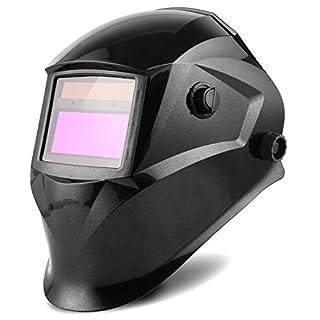FIXKIT Schweißhelm, Automatik Schweißhelm mit Uv-Schutz: 16 Stufen, (Dunkelzustand: DIN 9-13 freie Einstellung), für alle Schweißanwendungen, Inkl. 1+5 austauschbare Objektive