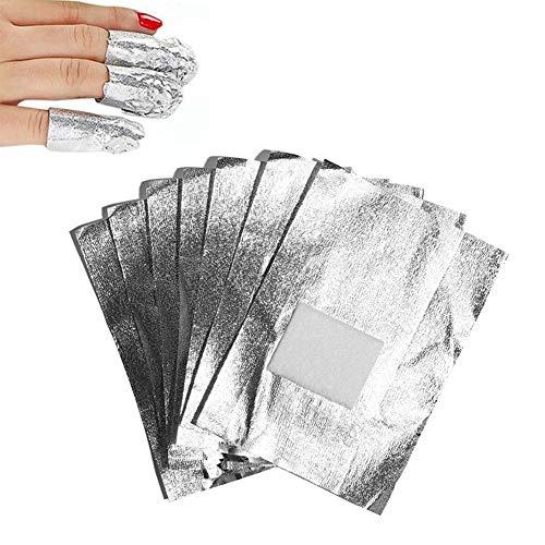 Cosfine, pellicola in alluminio per rimozione di unghie in acrilico e smalto, 100fogli