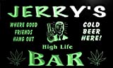 tp039-g Jerry's Marijuana High Life Bar Beer Man Cave Neon Light Sign