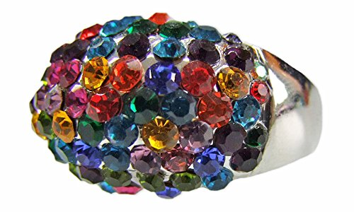 Ring Colorful mit Strasssteinen Galaxy Gr. 19 - -