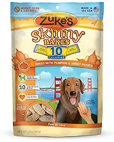 Zukes Skinny Bakes Dog Biscuit, Pumpkin And Sweet Potato Crunch, 12-Ounce