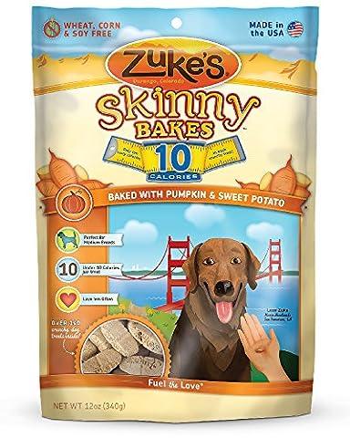 Zukes Skinny Bake Pumpkin Sweet Potato Crunch Biscuits Training Dog Treats 12z