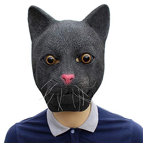 LH Zhenzhi Halloween Maske Scozo Schwarz Katze Latex Maske Für - Urkomisch Katze Kostüm