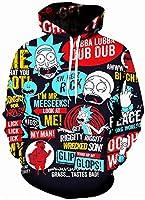 Chaos World Sudaderas con Capucha Hombre 3D Impreso Funny Cartoon Unisex Pullover Hoodie con Bolsillos (Las Palabras,2XL(Tag 3XL))