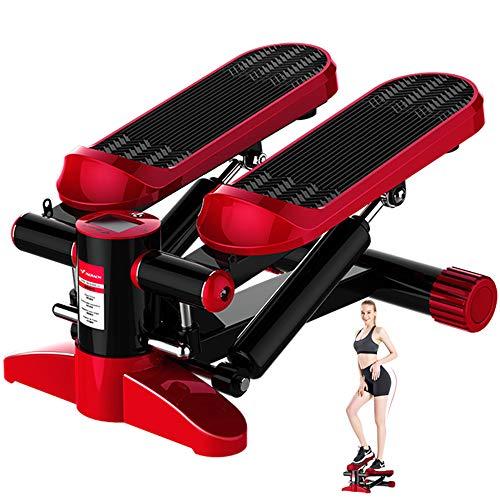 Dr.Taylor Mini-Heimtrainer, Up-Down-Step-Swing-Maschine mit Trainingsbändern und intelligentem Messgerät, 150 kg tragend für Gewichtsverlust, Aerobic-Training, Fitness-Training