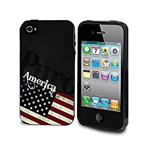 Puro USA Series Case for iPhone 4/4S - Red/White/Blue (IPC4USA2)