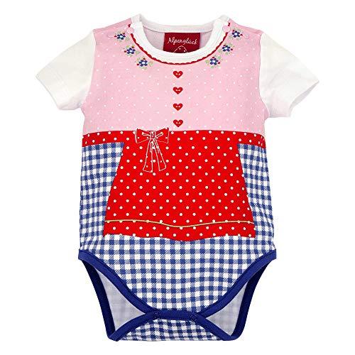 BONDI Body ´Schürzchen´, karo Blue/Weiss 74 Tracht Baby Mädchen Artikel-Nr.86011