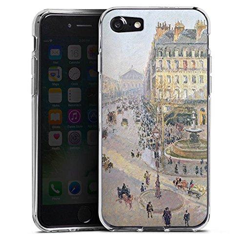 Apple iPhone X Silikon Hülle Case Schutzhülle Camille Pissarro The Avenue de L'Opera Kunst Silikon Case transparent