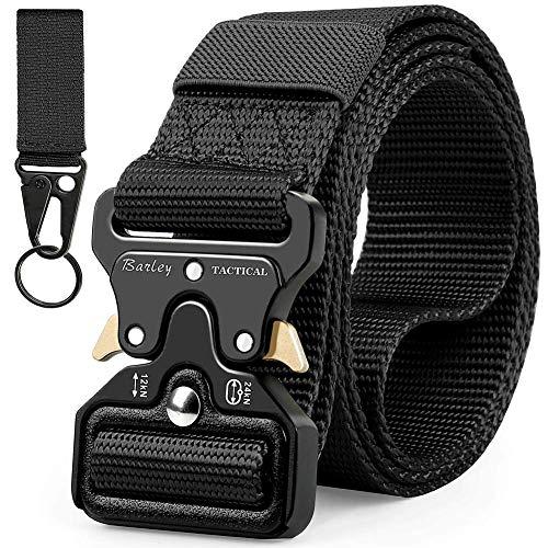 Barley Cintura Tattica, Cintura Militare Tattica per Uomo Heavy Tessuto in Nylon Cintura,Fibbia Cobra Cintura Resistente di Salvataggio per Sport e Caccia All\'aria Aperta Cintura Militare