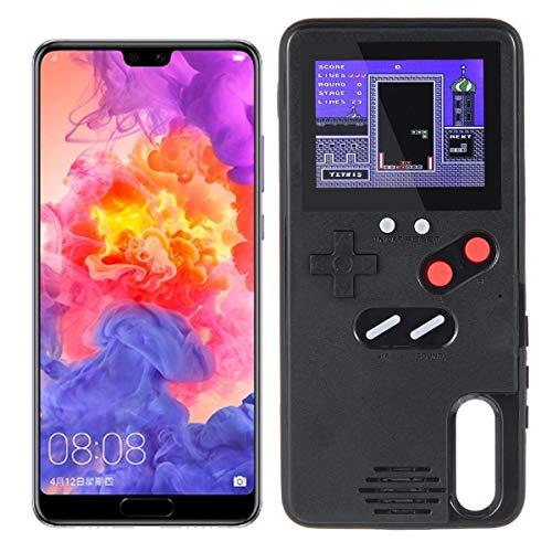 TEEPAO Game Hülle für Huawei, Retro 3D Schutzhülle mit 36 kleinen Spielen, Full Color Display, stoßfeste Videospielhülle für Mate20 Pro / Nova3 / P20 / P20 Pro Huawei P20 schwarz Full-color-display