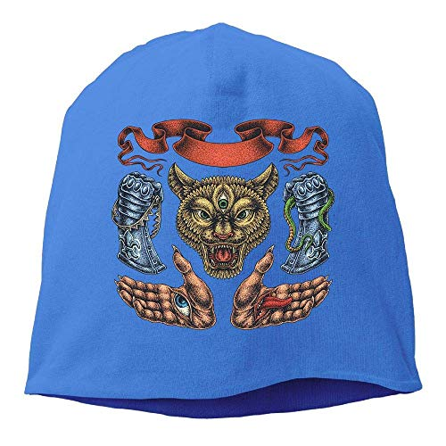 Top Level Beanie Hat for Men Women Knit Hat Animal Tattoos Cotton Skull Cap