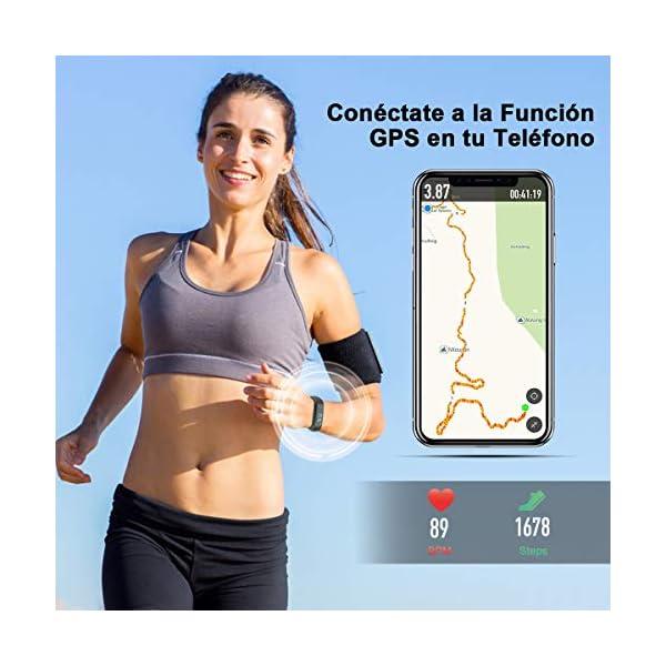 iWalker Smart Pulsera Fitness Tracker, Pulsera Actividad de Frecuencia Cardíaca, Impermeable IP68, Podómetro Deportiva… 8