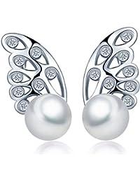 e220e54c775d Infinite U Lovely 7 mm de plata de ley 925 perla cultivada de agua dulce  Pendientes