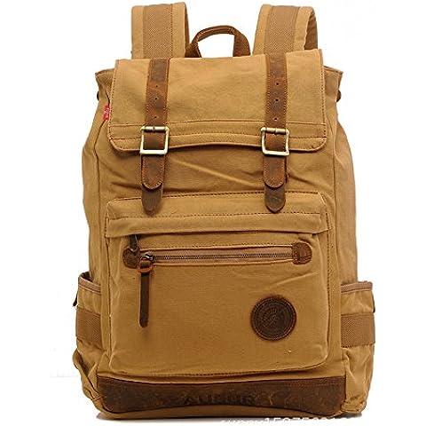 Sechunk Zaino Canvas Cotone multifunzione a tracolla Cartella Laptop bag