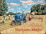 Fordson Major Tractor Vintage Classic Country Farm Farming. Small Metal/Steel Wall Sign