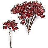 Othmar Trading Beerenpick Hagebutten künstlich Rot 18 mm 6 Bunde Beeren künstlich
