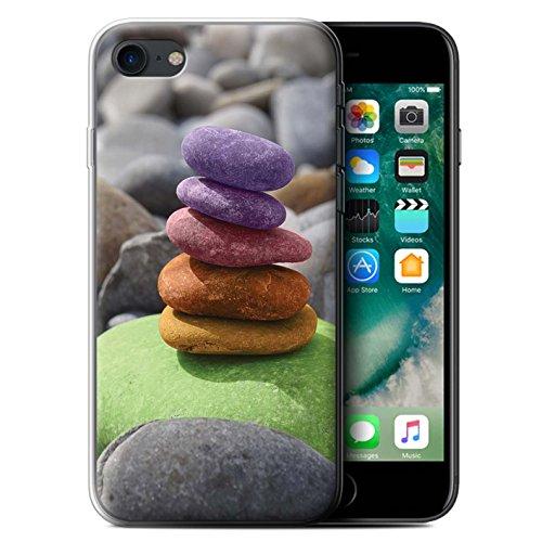 Coque Gel TPU de STUFF4 / Coque pour Apple iPhone 7 / Bouddha de Pierre Design / Paix Intérieure Collection Équilibrage Pierres