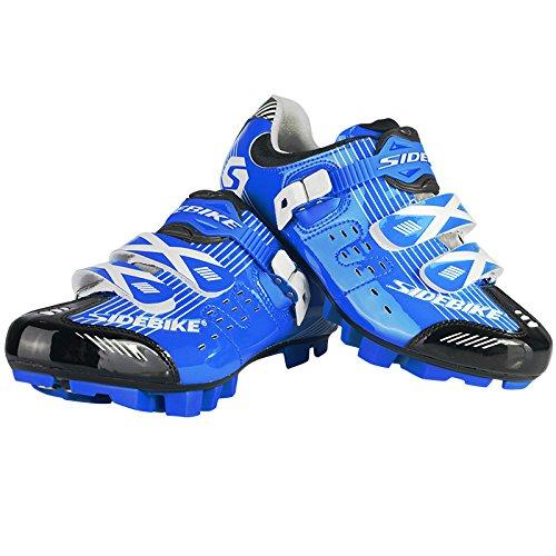 Herren Fahrrad Radsport Schuhe Atmungsaktive und anti-rutsch Blau