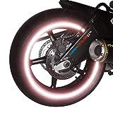 customTAYLOR33 (Alle Fahrzeuge Sonderausgabe Rosa Hohe Intensität Reflektierend Sicherheit Felgenbänder, 18