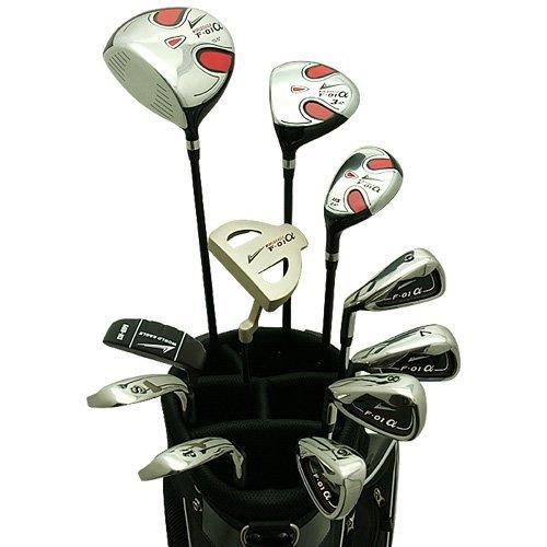 World Eagle f-01Alfa Herren Golf Komplett Set mit schwarz Tasche links flex-s 14teilig