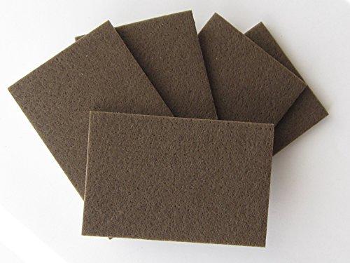 5 Platten Hettich Filzzuschnitt, Filzgleiter zum Zuschneiden, harter Filz braun, selbstklebend, 60 x 90 mm, 5 Stück, 89577 / 89916