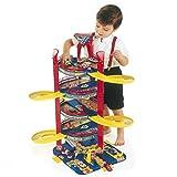 Parkgarage mit 5 Ebenen, Höhe 75 cm mit Aufzug, ab 3 Jahren: Autogarage Spielzeug Garage Tower Spielzeugauto Auto Parkhaus