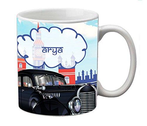 meSleep Personalized Ceramic Mug for Arya  available at amazon for Rs.249