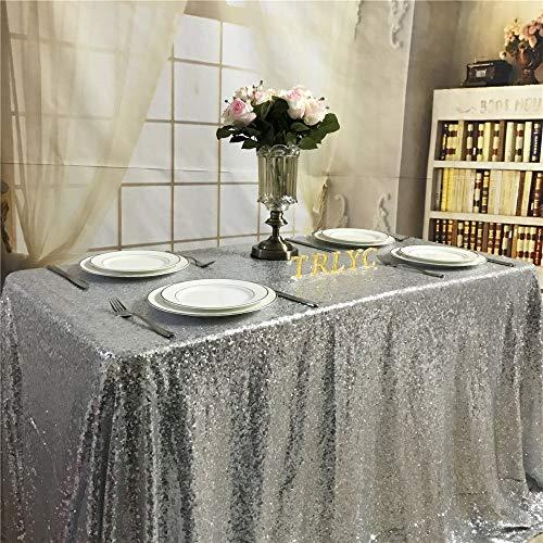 TRLYC Rechteck Shinny Elegante Pailletten Tischdecke Sparkly Tisch Stoff Shimmer Tischdecken Hochzeit Tischabdeckung 48