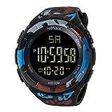 Skryo LED Impermeable Digital Cuarzo Reloj de Moda Militar Deporte Hombres (C)