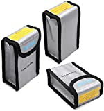 TELESIN Pack of 3 Lipo Safety Guard Fire Resistant Lipo Battery Safe Bag for DJI Phantom 3 Phantom 4 Battery Charging & Storage