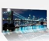 Acrylglasbild 100x40cm Skyline Brooklyn Bridge Manhattan New York Acrylbild Acryl Druck Acrylglas Acrylglasbilder 14A8213, Acrylglas Größe1:100cmx40cm