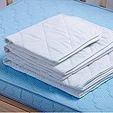 ROSENICE, 4-lagig, Inkontinenz-Pads, saugstark, Baumwolle, gesteppt, wasserdicht, 80x 60cm, Weiß