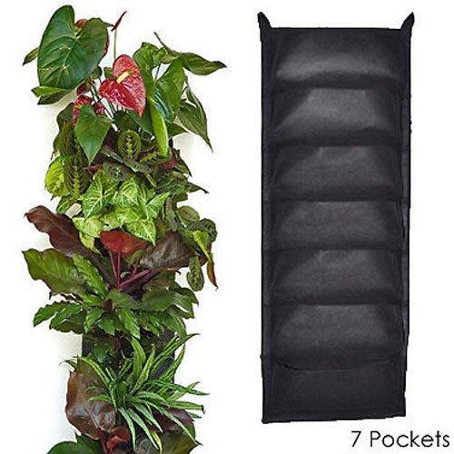 7 pocket piantare borsa,angtuo feltro verde piantare borsa,resistente alla corrosione environment-friendly parete pianta verde,il nero