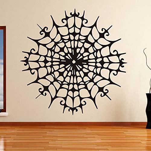 Creepy Spider Web Dekorative Wandaufkleber für Schlafzimmer Kunst Halloween Decor Wasserdicht Vinyl Aufkleber Wohnzimmer Home Aufkleber 56 * 56 cm