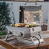 Nexgrill - Barbecue da Tavolo a Gas con 2 fuochi in Acciaio Inox 304, 48,9 cm