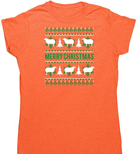 Hippowarehouse Damen T-Shirt Gr. Large, Orange (Heather Orange) (Heather Wine Red)