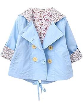 [Mantel für Jungen Mädchen]Baumwolle Winterjacke Kinder Jacke Mädchen Herbst Outerwear Einreihig Trenchcoat