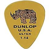 Jim Dunlop 433P 6-Piece 1.14mm Guitar Pick Set, Yellow
