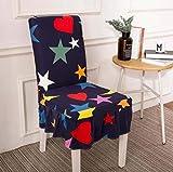 MAIAMY Coperture per sedie Copertine Colorate Elastiche in Spandex con Stampa Colorata Custodia Protettiva per Sedia da Pranzo antisporco per Banchetti