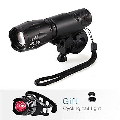 LED Fahrradbeleuchtung,BYBO 900 Lumen 3 Licht-Modi LED Fahrradbeleuchtung Frontlichter und Rücklicht, Halterung, Zoombarer Effekt für Berg-Radfahren, Camping und täglichen Gebrauch