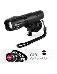 LED Fahrradbeleuchtung,BYBO 1000 Lumen 5 Licht-Modi LED Fahrradbeleuchtung Frontlichter und Rücklicht, Halterung, Zoombarer Effekt für Berg-Radfahren, Camping und täglichen Gebrauch