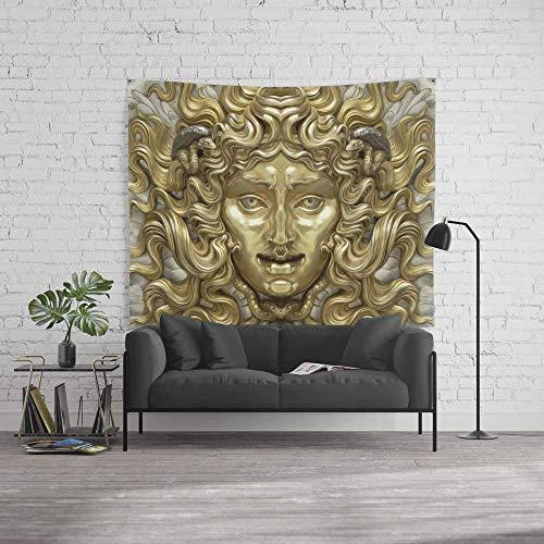 Antik-gold-teppich (Wandteppich Medusa-Mythos 152,4 x 228,6 cm, antikes Gold und Silber)