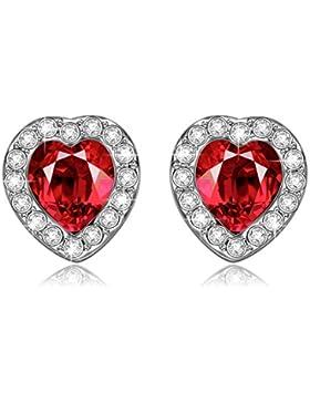 LADY COLOUR - Leidenschaft der Liebe - Ohrringe Damen mit Kristallen von SWAROVSKI® - Kristallherz Kollektion