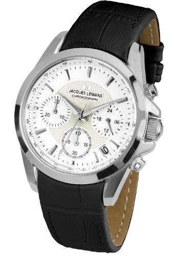 Jacques Lemans Damen-Armbanduhr XS Chronograph Quarz Leder 1-1752C